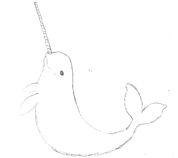 A narwhal is a pale colored porpoise with a long tooth called a tusk, and it is related to the beluga whale.