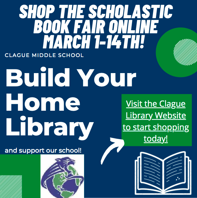 The library has an online Scholastic Book Fair going on that ends March 14.