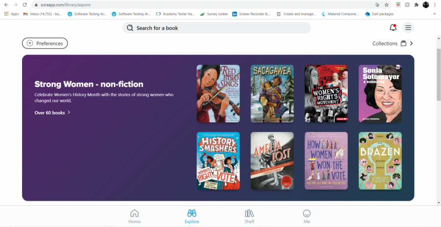 Sora is an online library that you can borrow ebooks and audiobooks from.
