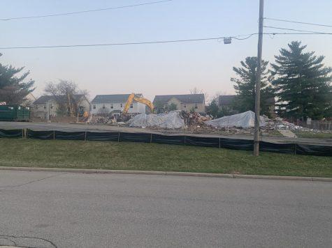 The church across the street from Clague got torn down last week.