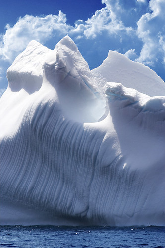 Icebergs were once glaciers, formed in the cold homes of the poles.